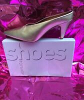 Topshop 'Juicy' Gold Leather Shoes BNWT  Size 9/42