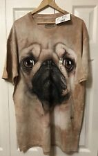 The Mountain Pug Large Face T Shirt Size XL  NEW!