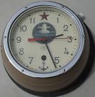 Vintage Russian Ship Navy Wall Clock Vostok Christopol USSR Soviet Union 12 Hour