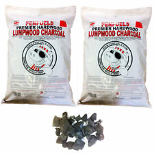 10kg Hardwood Lumpwood Charcoal for BBQ Barbecue and Grills (Two 5kg bags)