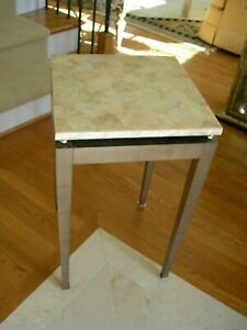 Theodore Alexander Mother of Pearl Inlaid Sycamore Banded Occasional End Table
