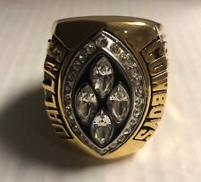 DALLAS COWBOYS SB 28 JUMBO PAPER WEIGHT RING Back To Back With 28 Logo On Side