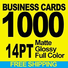 1000 BUSINESS CARDS FULL COLOR W/ YOUR ARTWORK READY TO PRINT - FREE SHIPPING