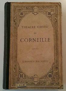 ANTIQUE FRENCH BOOK.1800-1900.THEATRE CHOIST DE CORNEILLE.