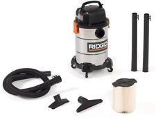 6 gal. Wet Dry Shop Vacuum Stainless Steel Home Car Garage Jobsite Vac Cleaner