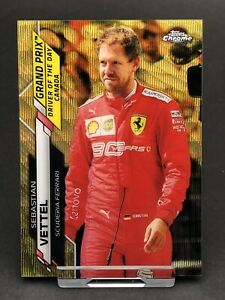 Topps Chrome F1 Sebastian Vettel Ferrari Card Formula 1 One #160 Gold Wave