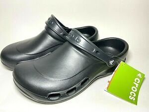 Crocs At Work Shoes Black Slip on 10074-001 Specialist Vent Men's 11 Roomy Fit
