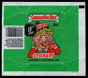 Garbage Pail Kids Series 15 Stickers Wrapper #W56