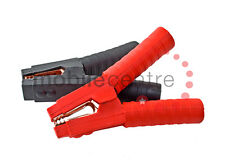 Heavy Duty Cocodrilo abrazaderas Par Rojo Negro completamente aislado Booster Cable Jumper