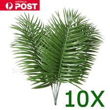 10PCS Big Palm Leaves Plastic Fake Plant Artificial Leaf Home Office Decor HOME