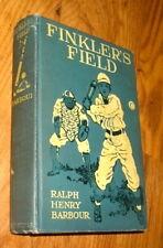 Finkler's Field, Story of School and Baseball, by Barbour, 1911, 1st, Illustra.