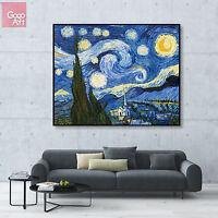 Canvas print wall art big poster decor star light Starry Night vincent Van Gogh