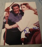 ROGER MOORE SIGNED 8X10 PHOTO JAMES BOND CONNERY W/PROOF+COA RARE WOW