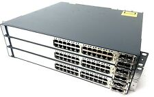 Nice Cisco WS-C3750E-24TD-S 24 Port GE Switch w/ twingig modules, V 15.0-2.SE10a