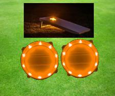Two Orange Cornhole Rings Light Set-10 bright LED Neon Lights in Each Light Ring