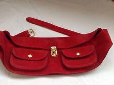 Gucci borsa Marsupio pelle camoscio rosso borsetta