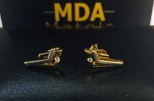 18CT TWO TONE GOLD DIAMOND STUD EARRINGS