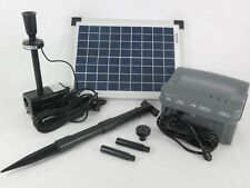 10 Watt LED Solar Pumpe mit Akku Batterie Gartenteich Teich Tauch Beleuchtung **