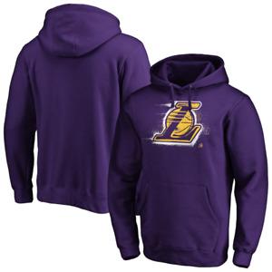 Lakers NBA Hoodie Mens Fanatics LA Splatter Logo Hoodie - 3XL - Purple - New
