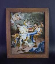 antikes Gemälde /Hinterglasbild - Augsburg oder Murnau 18 Jh - Geiselung Jesu