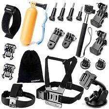 19-in-1 Accessories Kit Essential GoPro Hero 5/4/3/2/1 Session Hero Bundle Black