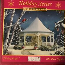 Alan Giana Sparkles In Light 100 Piece Puzzle Holiday Series Shining Bright