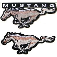 Patch Iron on for FORD Mustang GT Coupe Car Polo T shirt Cap Emblem Badge Logo
