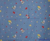 FQ Rare, HTF Baby Snoopy Sports Denim Look Cotton Fabric FQ