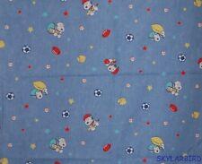FQ Rare, HTF Baby Snoopy Sports Denim Look Cotton Fabric FQ