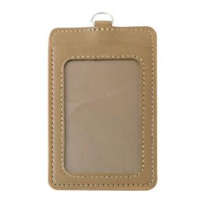 PU Leather ID Badge Card Holder Credit Card Case Business Organizer Bag