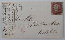 GB histoire postale QV 1d Penny rouge Imperforé GH (SG8) Edinburgh 1850