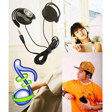 "3.5mm 1/8"" Stereo Plug Clip On Headphones Powerful Bass Ear Cup for Ipod MP3 MP4"