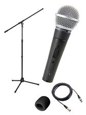 Shure SM58S Vocal On/Off Switch Mic with 20' XLR Cable, Boom Stand
