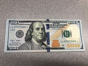 $100. Star Note Series 2009A --Very Low Run