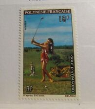 FRANCE : Polynesia Sc #275 * MH postage stamp, golf sports