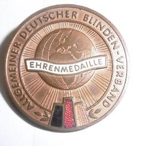 alte DDR Ehrenmedaille Allgemeiner Deutscher Blinden Verband um 1950