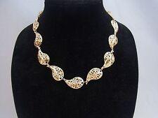 14k Gold Stefano Designs Italian 3D Leaf Necklace