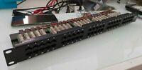 ISDN PATCH PANEL Pannello Permutazione 50 Porte UTP per ISDN Cat.3 Nero CS F3