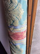 10 M con texture Verde Rosso Blu Oro Damasco Tessuto a Righe Tende Spedizione gratuita