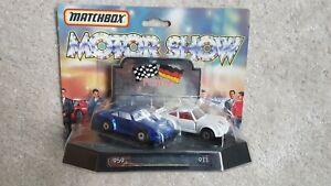 Matchbox Superfast Motor Show Porsche 959 & 911 1:64 Scale Sealed 1980's
