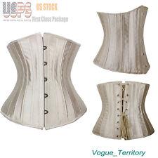 Women Spiral Steel Boned Waist Training Underbust Corset Bustier Shapewear S-6XL