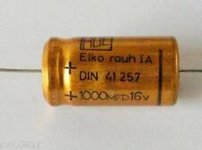 25x ROE EGC 1000µf 16v 105 ° C din4125 electrolyt CAPACITOR CONDENSATORE assiale