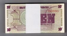 British Troop Issue. Date ?. Uncirculated Serial Numbers 23501 To 23600