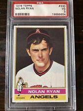 1976 Topps NOLAN RYAN (HOF) - 5714 K's, California Angels #330 PSA 3 Astros ⭐️⭐️