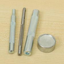 Outils de Poinçon Perforatrice Montage Bouton Pression 15 mm Lot de 4 pcs