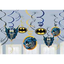 Batman Party Supplies Swirl Decorations 12ct