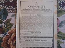 1891 ...Württemberg 10 / Reklame Hall Stuttgart /  Nachruf König Karl I
