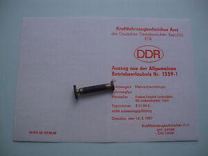 DDR Fortschritt LPG KTA KFZ Brief Betriebserlaubnis Anhänger Mehrachs Nr. 1359-1