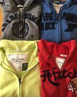 NWT Abercrombie & Fitch Mens Fleece Hoodie Zip up S M L XL XXL