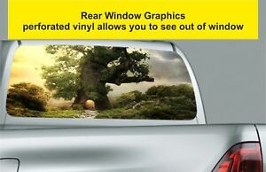 Window Graphic Tint Truck Jeep SUV Abstract Fantasy World Sticker Decal 639